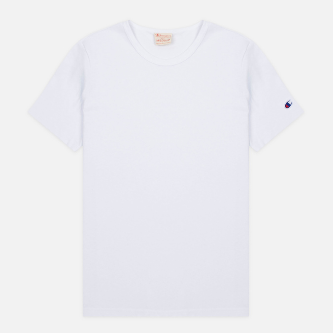 Мужская футболка Champion Reverse Weave Basic Crew White