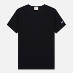 Мужская футболка Champion Reverse Weave Basic Crew Black фото- 0