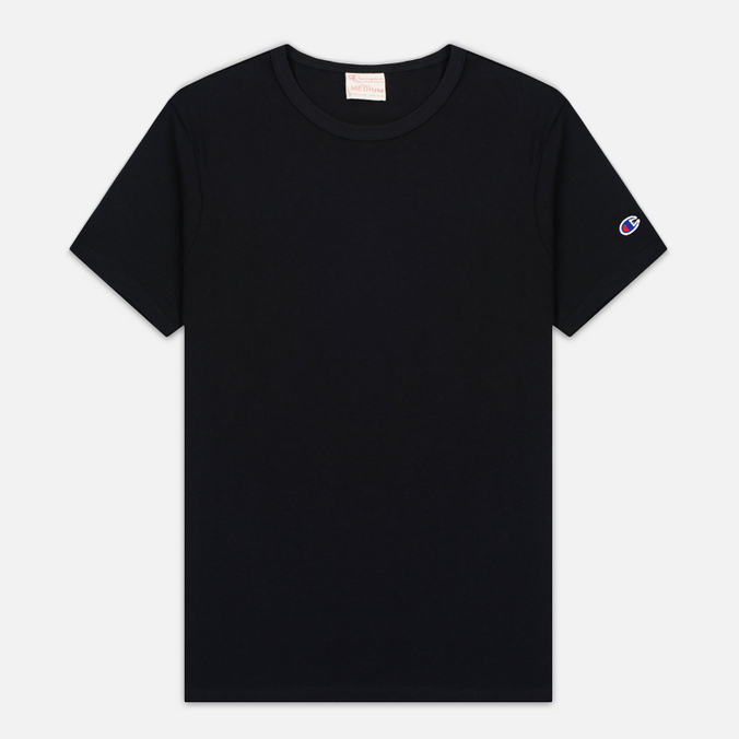 Мужская футболка Champion Reverse Weave Basic Crew Black