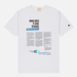 Мужская футболка Champion Reverse Weave Campus Collection 1975 Print White A фото- 0