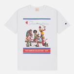 Мужская футболка Champion Reverse Weave Campus Collection 1975 Print White B фото- 0