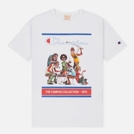 Мужская футболка Champion Reverse Weave Campus Collection 1975 Print White B