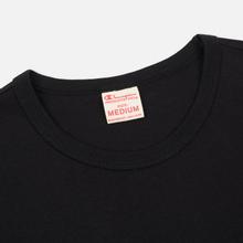 Мужская футболка Champion Reverse Weave Classic Crew Neck Premium Black фото- 1