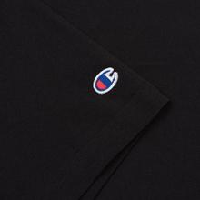 Мужская футболка Champion Reverse Weave Classic Crew Neck Premium Black фото- 2