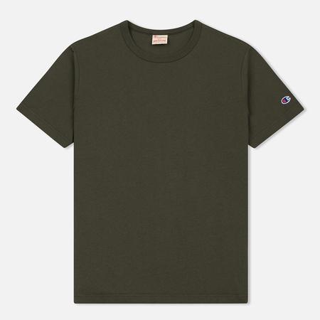 Мужская футболка Champion Reverse Weave Classic Crew Neck Premium Dark Green