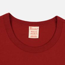 Мужская футболка Champion Reverse Weave Classic Crew Neck Premium Dark Red фото- 1