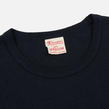 Мужская футболка Champion Reverse Weave Classic Crew Neck Premium Navy фото- 1