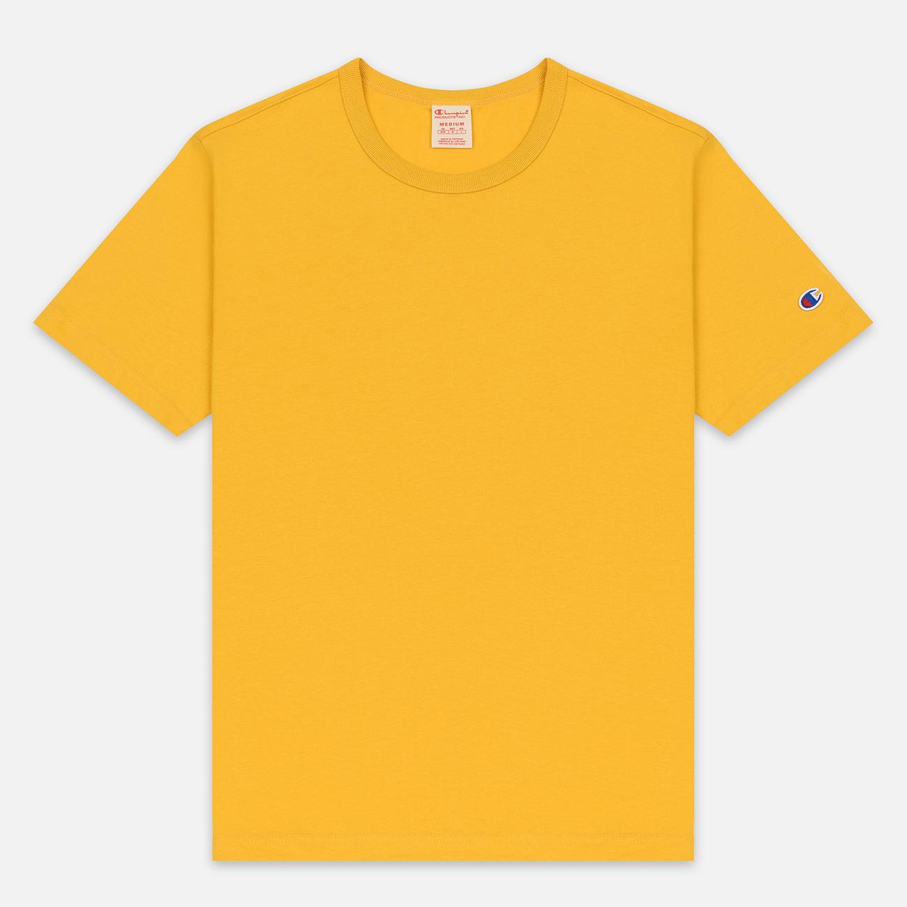 Мужская футболка Champion Reverse Weave Classic Crew Neck Premium Golden Rod