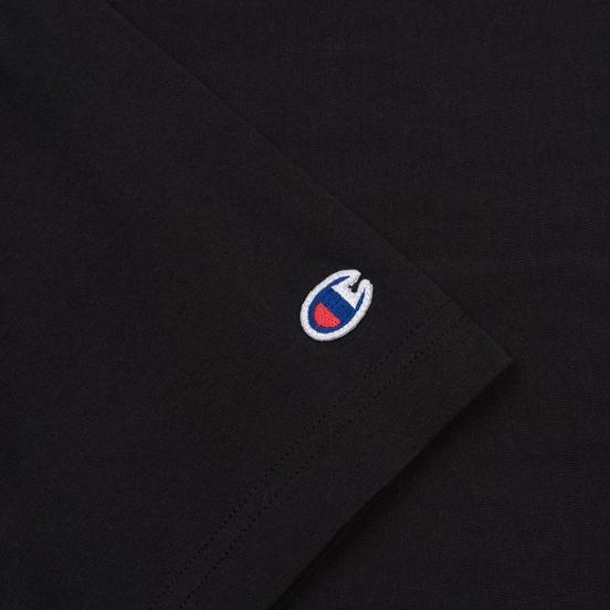 Мужская футболка Champion Reverse Weave Classic Crew Neck Script Logo Black