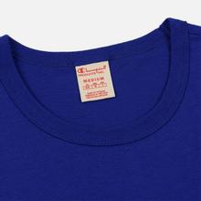 Мужская футболка Champion Reverse Weave Classic Crew Neck Script Logo Clematis Blue фото- 1
