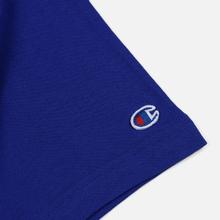 Мужская футболка Champion Reverse Weave Classic Crew Neck Script Logo Clematis Blue фото- 3