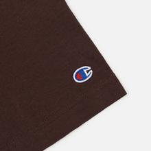 Мужская футболка Champion Reverse Weave Classic Crew Neck Script Logo Brown фото- 3