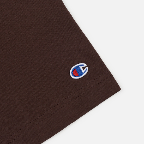 Мужская футболка Champion Reverse Weave Classic Crew Neck Script Logo Brown
