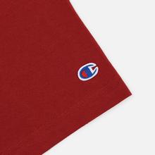 Мужская футболка Champion Reverse Weave Classic Crew Neck Script Logo Dark Red фото- 3