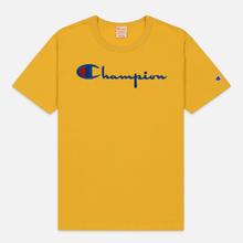 Мужская футболка Champion Reverse Weave Classic Crew Neck Script Logo Golden Rod фото- 0