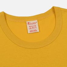 Мужская футболка Champion Reverse Weave Classic Crew Neck Script Logo Golden Rod фото- 1