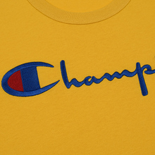 Мужская футболка Champion Reverse Weave Classic Crew Neck Script Logo Golden Rod фото- 2