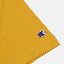 Мужская футболка Champion Reverse Weave Classic Crew Neck Script Logo Golden Rod фото- 3