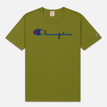 Мужская футболка Champion Reverse Weave Classic Crew Neck Script Logo Guacamole фото- 0