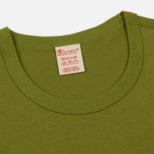 Мужская футболка Champion Reverse Weave Classic Crew Neck Script Logo Guacamole фото- 1
