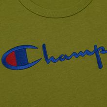 Мужская футболка Champion Reverse Weave Classic Crew Neck Script Logo Guacamole фото- 2