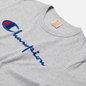 Мужская футболка Champion Reverse Weave Classic Crew Neck Script Logo Light Grey фото - 1