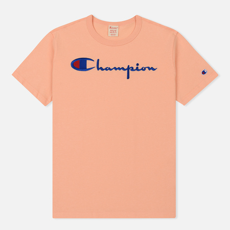 Мужская футболка Champion Reverse Weave Classic Crew Neck Script Logo Peach