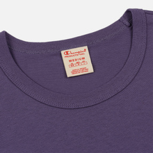 Мужская футболка Champion Reverse Weave Classic Crew Neck Script Logo Mulled Grape фото- 1