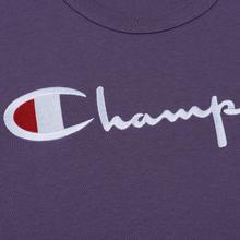 Мужская футболка Champion Reverse Weave Classic Crew Neck Script Logo Mulled Grape фото- 2