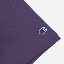 Мужская футболка Champion Reverse Weave Classic Crew Neck Script Logo Mulled Grape фото- 3