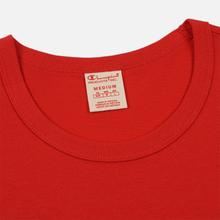 Мужская футболка Champion Reverse Weave Classic Crew Neck Script Logo Racing Red фото- 1