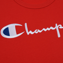 Мужская футболка Champion Reverse Weave Classic Crew Neck Script Logo Racing Red фото- 2