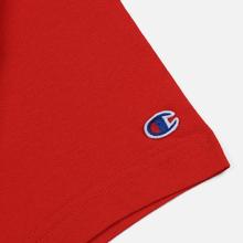 Мужская футболка Champion Reverse Weave Classic Crew Neck Script Logo Racing Red фото- 3