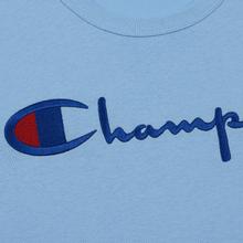 Мужская футболка Champion Reverse Weave Classic Crew Neck Script Logo Blue Bell фото- 2