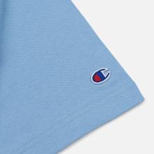 Мужская футболка Champion Reverse Weave Classic Crew Neck Script Logo Blue Bell фото- 3