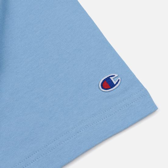 Мужская футболка Champion Reverse Weave Classic Crew Neck Script Logo Blue Bell