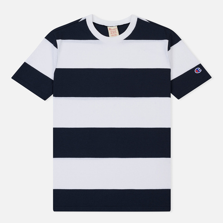 Мужская футболка Champion Reverse Weave Classic Stripe Navy/White