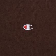 Мужская футболка Champion Reverse Weave Crew Neck Back Script Logo Brown фото- 2