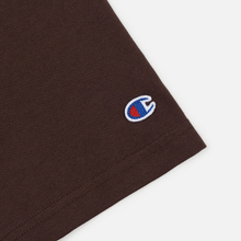 Мужская футболка Champion Reverse Weave Crew Neck Back Script Logo Brown фото- 3