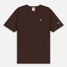 Мужская футболка Champion Reverse Weave Crew Neck Back Script Logo Brown фото- 0