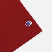 Мужская футболка Champion Reverse Weave Crew Neck Back Script Logo Dark Red фото- 1