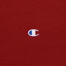 Мужская футболка Champion Reverse Weave Crew Neck Back Script Logo Dark Red фото- 3
