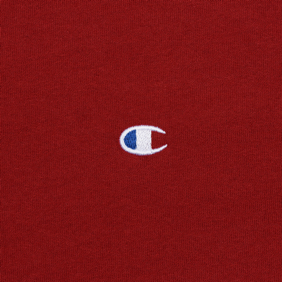 Мужская футболка Champion Reverse Weave Crew Neck Back Script Logo Dark Red