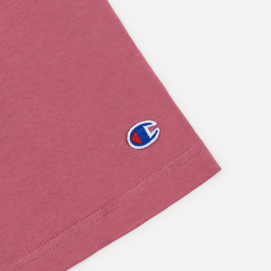 Мужская футболка Champion Reverse Weave Crew Neck Back Script Logo Heather Rose