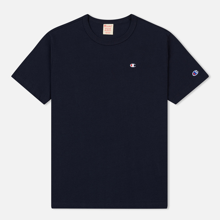 Мужская футболка Champion Reverse Weave Crew Neck Back Script Logo Navy