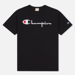 Мужская футболка Champion Reverse Weave Embroidered Script Logo Black фото- 0