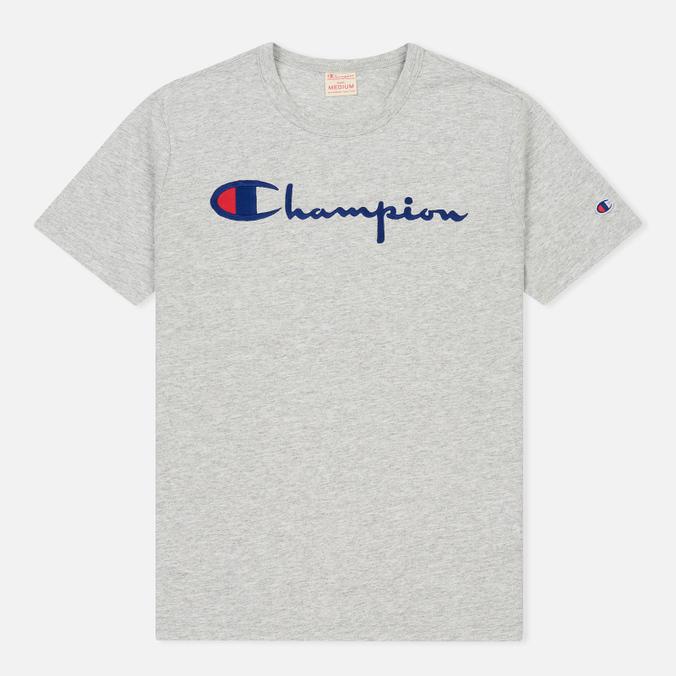 Мужская футболка Champion Reverse Weave Embroidered Script Logo Grey