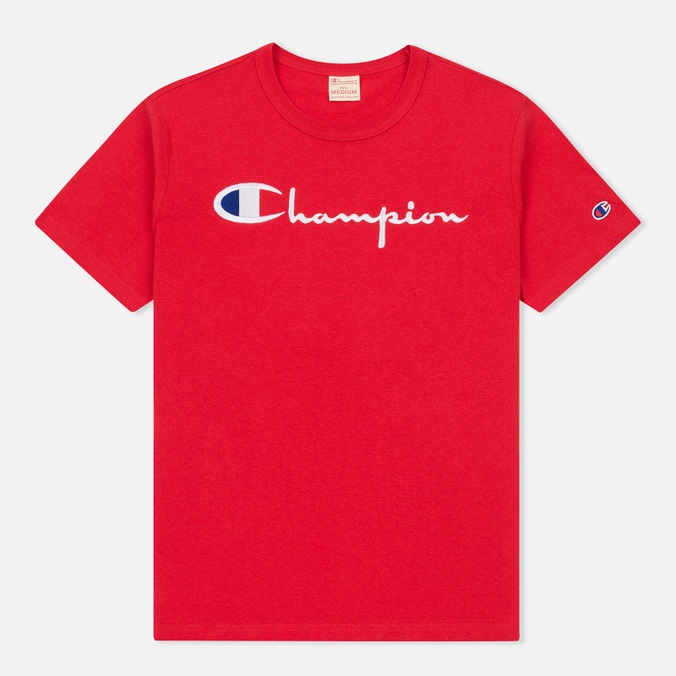 Мужская футболка Champion Reverse Weave Embroidered Script Logo Red
