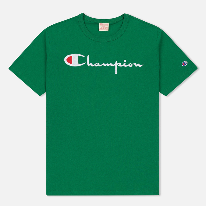 Мужская футболка Champion Reverse Weave Embroidered Script Logo Verdent Green