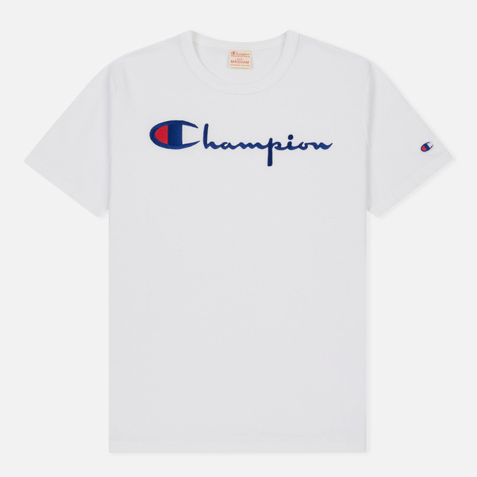 Мужская футболка Champion Reverse Weave Embroidered Script Logo White